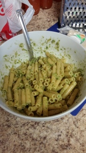 Ziti with fresh pesto