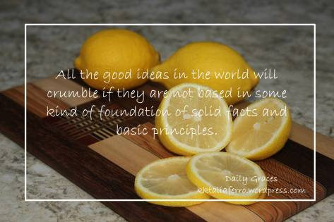 The Missing Ingredient - do you have a solid foundation? Daily Graces kktaliaferro.wordpress.com