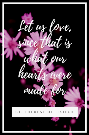 Let us love